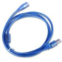 USB EXTENSION MALE TO FEMALE 2.0 CRYSTAL BLUE 1.5M