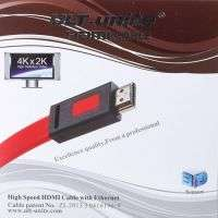 HDMI FLAT CABLE ULT UNIT 1.4V 3M 2K.4K RED