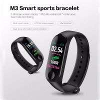 M3 PLUS BLACK BLOOD PRESSURE WATERPROOF BLUETOOTH FITNESS BRACELET HEART RATE MONITOR