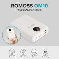 ROMOSS OM10 WITH LCD 10000 MAH POWER BANK 3 INPUT 2 OUT PUT